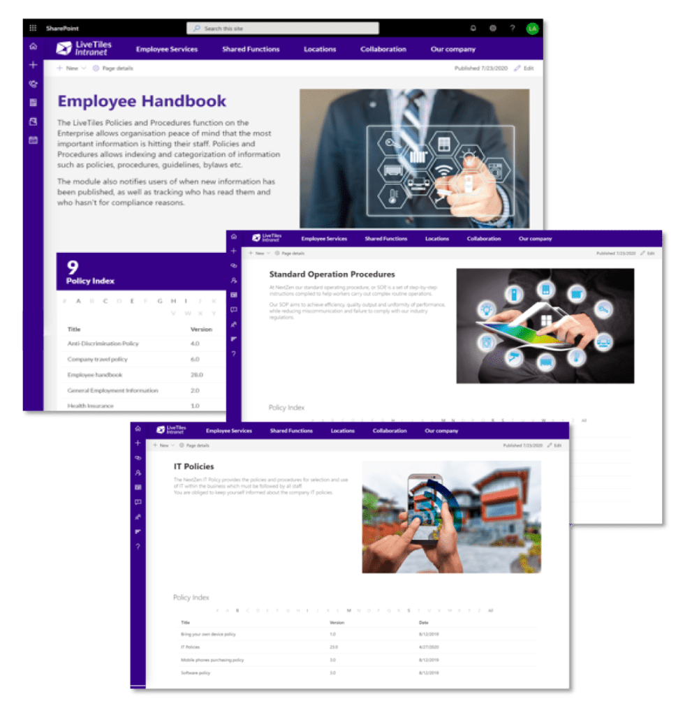 Intranet content governance with LiveTiles